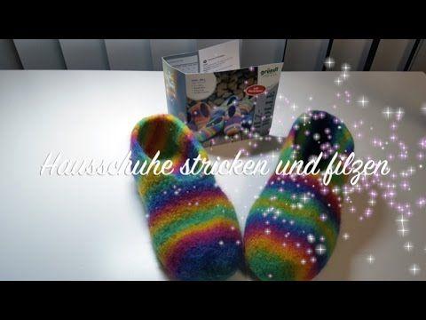 Häkeln - Puschen - Pantoffeln - Filzen Teil 1 - YouTube