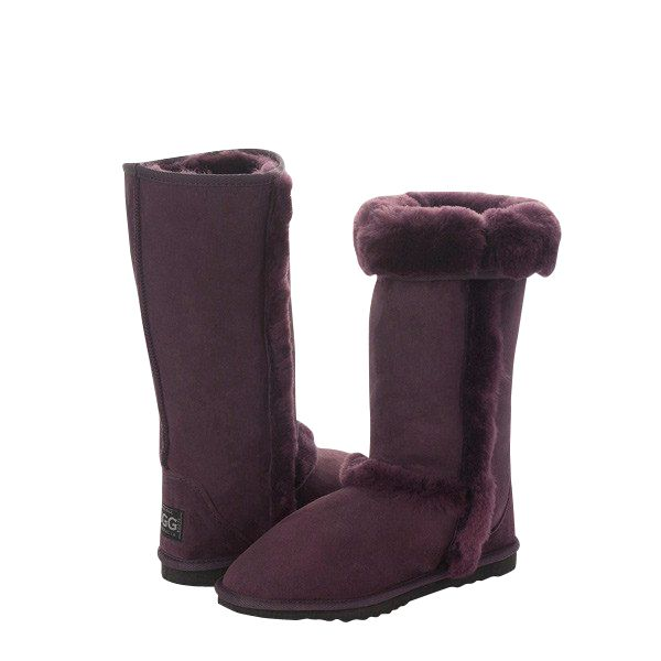 Arctic Tall Burgundy Boots, Australian Made Sheepskin, #aussie #australianmade #sheepskin #boots #tallboots #shoedreams #comfy #cute #warm #indoors #home #outdoors #shoesaholic #burgundy #purple #wine #burgundyboots #purpleboots #styling #fashion #outfit #fashioninspiration