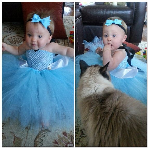 Cinderella Baby Girls Tutu Dress Birthday Party Costume Disney Princess Halloween Ribbon Trim Vintage Buttons on Etsy, $20.00