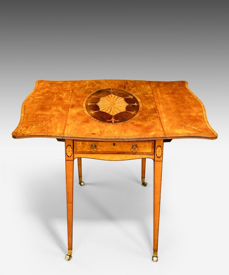 A Sheraton satinwood and marquetry pembroke table. - 19 Best Elegant Antique Sheraton Furniture Images On Pinterest