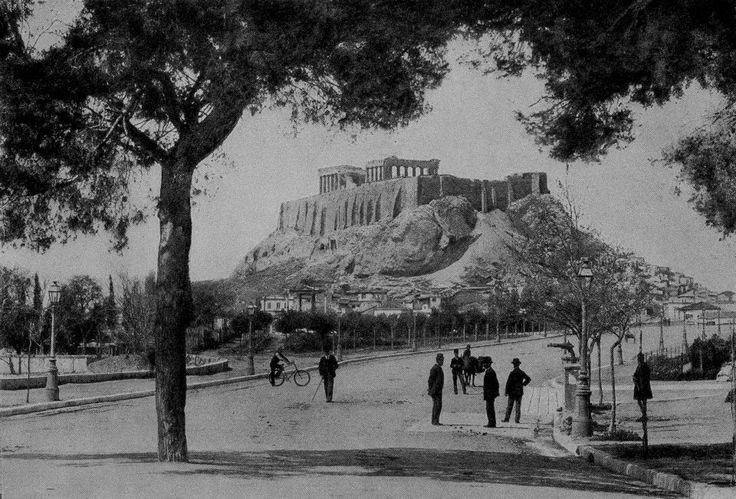Η Ακρόπολη και η Βασ. Όλγας. Αθήνα 1890-1900 Αρχείο: «Η ΑΘΗΝΑ ΜΕΣΑ ΣΤΟ ΧΡΟΝΟ»