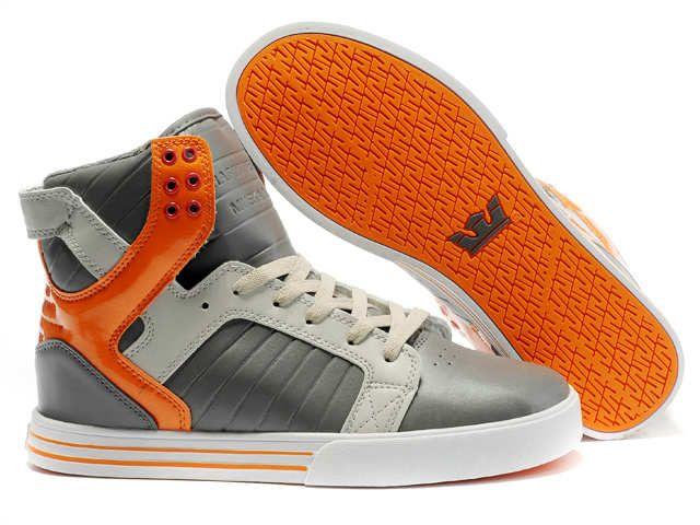 Cheap Supra Shoes For Sale, Justin Bieber Shoes USA Online Store Supra  Skytop Grey White Orange Men's Shoes [Supra Skytop - - Cheap Supra Skytop  Grey White ...