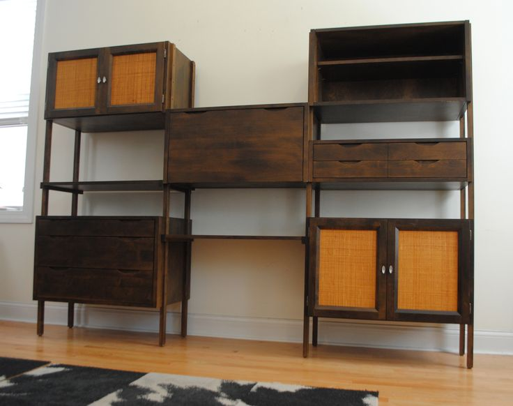 1000 images about mid century on pinterest modern - Modern bookshelf wall unit ...