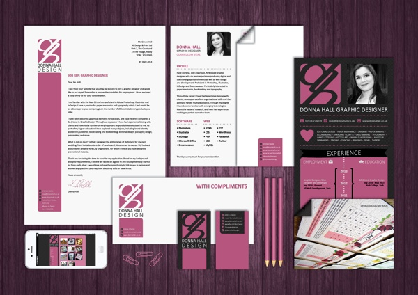 Personal Branding Project by Donna Hall, via Behance