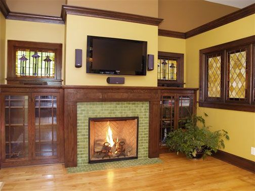 59 Best Bungalow Fireplaces Images On Pinterest | Craftsman Fireplace,  Craftsman Homes And Craftsman Interior