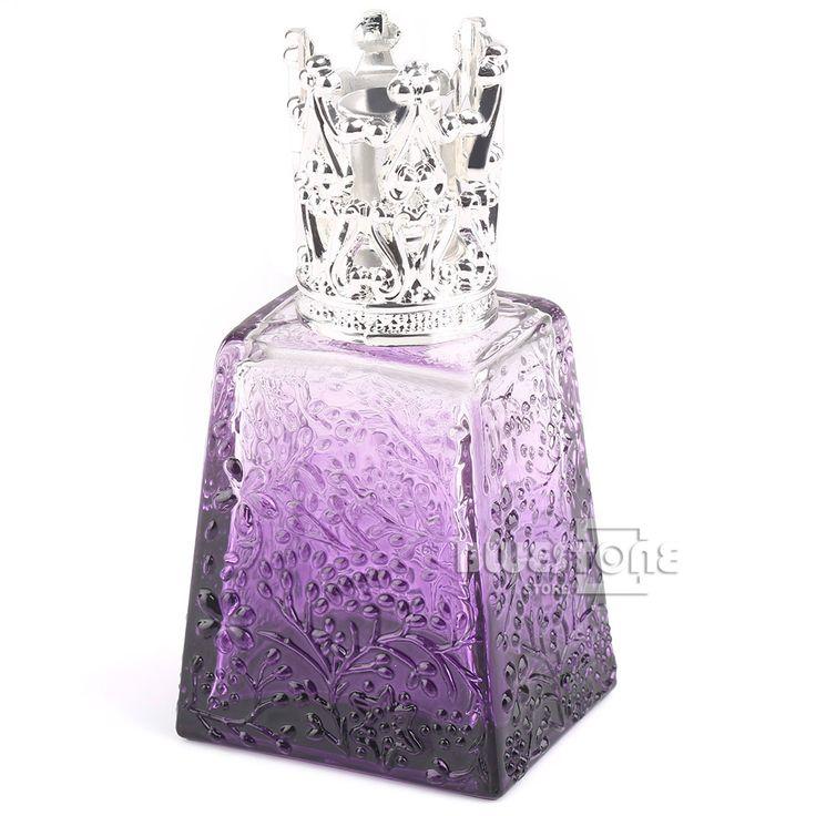 100 ML Botella de Perfume de Cristal Violeta Lámpara de Aceite de la Guarnición De Plata Regalos De Viajes