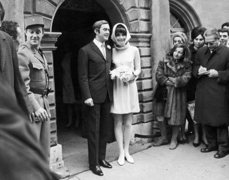 Audrey Hepburn in 1969 when she marries Italian psychiatrist Andrea Dotti.