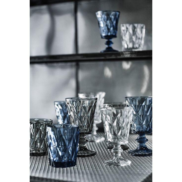 Nordal Diamond Glas Set van 6 - Smoke