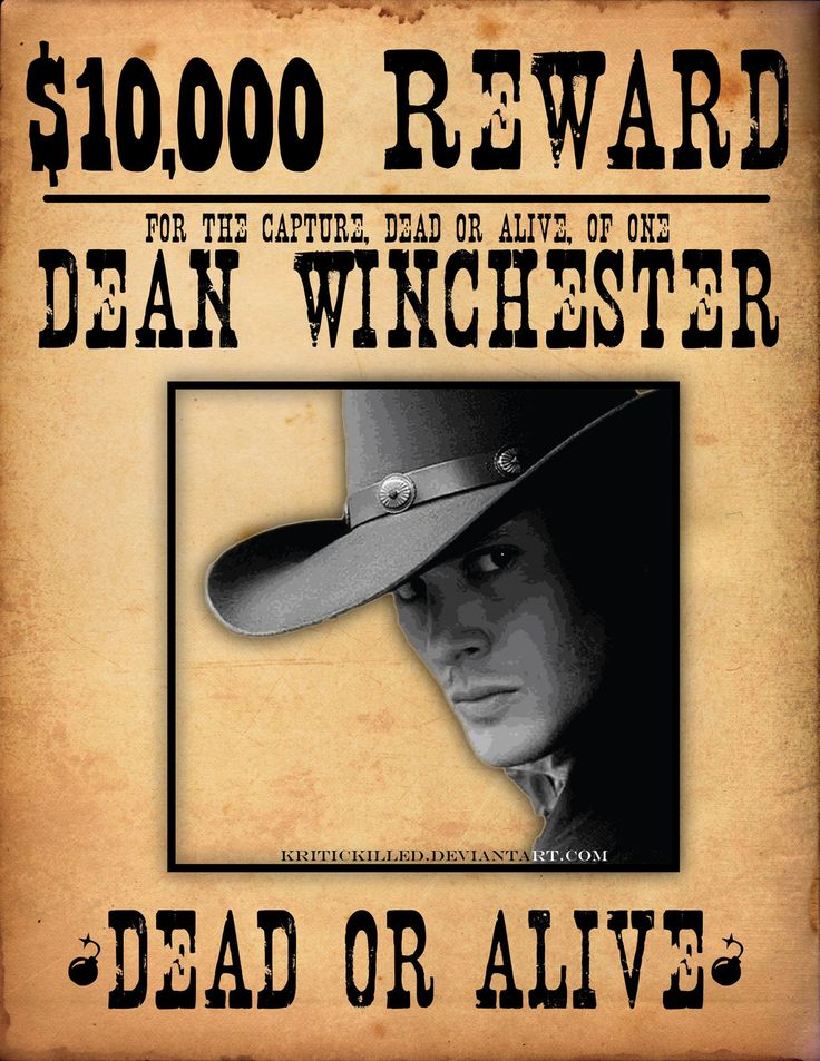 480 best Supernatural - Season 6 images on Pinterest Winchester - printable wanted posters