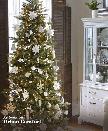 Kennedy Fir Slim Artificial Christmas Tree - Tree Classics