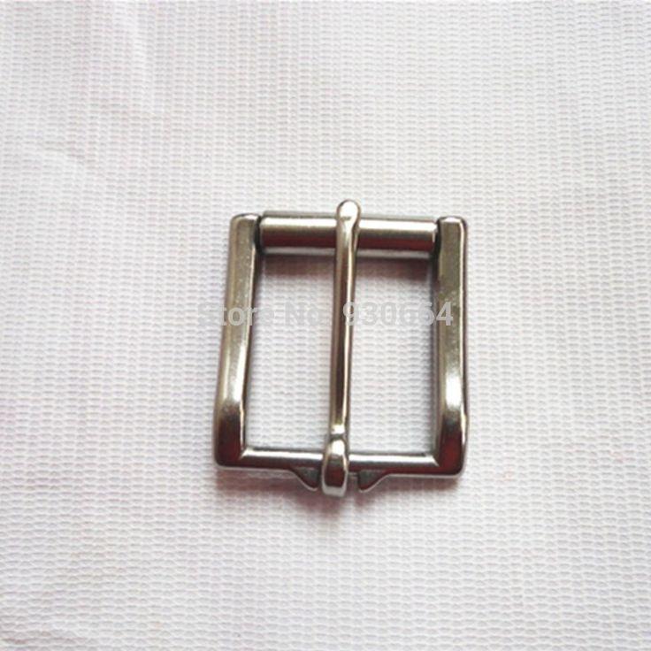10 Unids/lote 34mm Cinturón de Hebilla de Acero Inoxidable Con Rodillo de 34mm de Cuero hebilla W015
