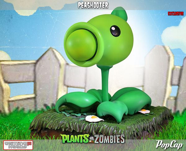 Plants Vs. Zombies - Zombie & Peashooter Statues - Video Game Figures - Action Figures Toys News ToyNewsI.com