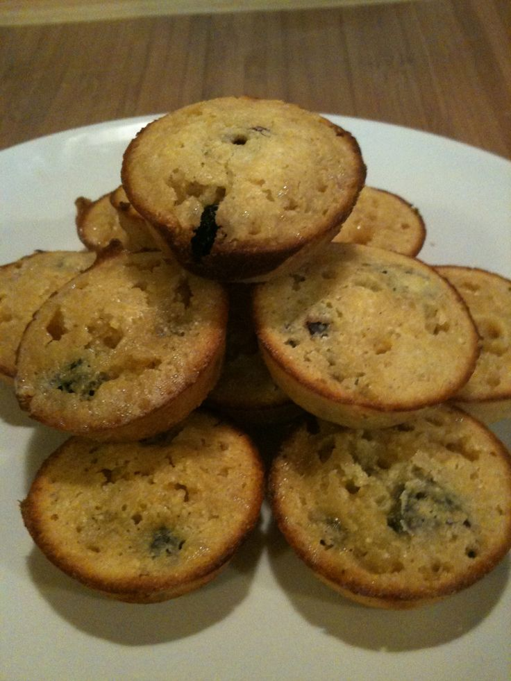Cranberry-blueberry corn mini-muffins. Made with #nuts.com dried ...