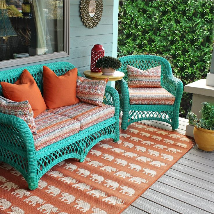 No Sew Patio Cushions And Pillows   – DIY DECORATING FUN