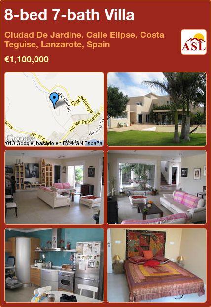 8-bed 7-bath Villa in Ciudad De Jardine, Calle Elipse, Costa Teguise, Lanzarote, Spain ►€1,100,000 #PropertyForSaleInSpain