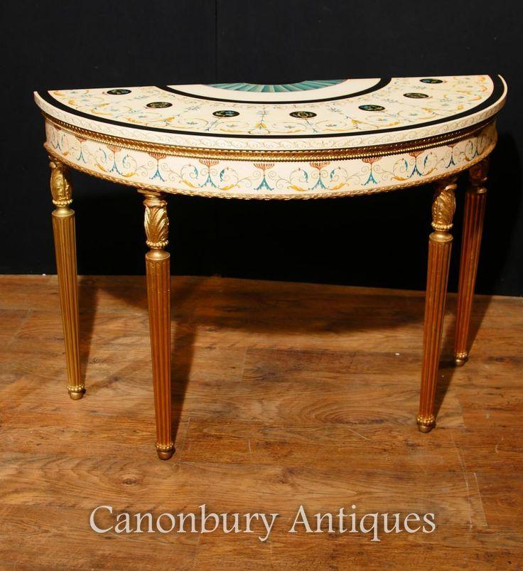 Charming Single Adams Demi Lune Console Table Painted Tables | Console Table |  Pinterest | Painted Tables, Console Tables And Consoles