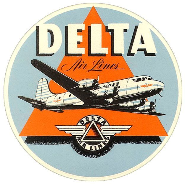 Santiago, Chile Ladeco Airlines Vintage-Looking  Sticker//Decal//Luggage Label