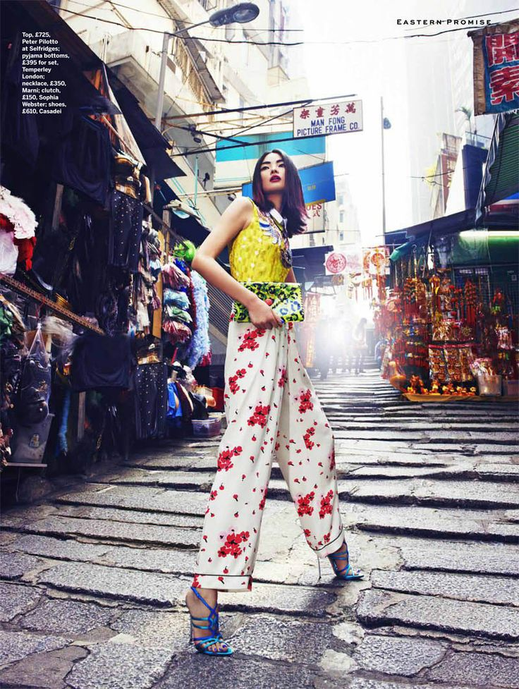 Miao Bin Si Shines in the Streets of Hong Kong for Stylist Magazine S/S 2013
