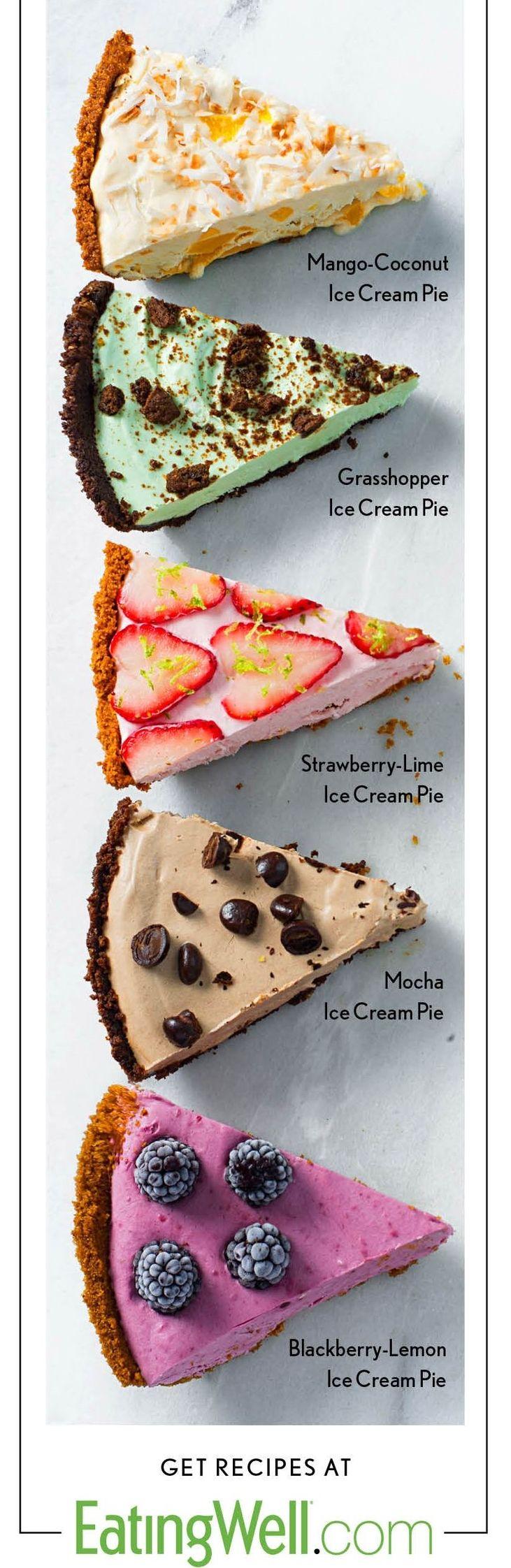 5 Healthier Ice Cream Pies