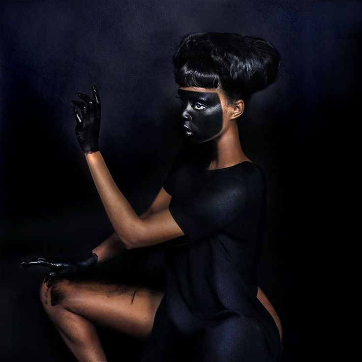 """Rogue Culture --- Lina Victor, """"blacking up / to blacken ones face as a method of imitation / ridicule. to satirize bigotry. to appropriate an identity synonymous with blackness.…"""""""