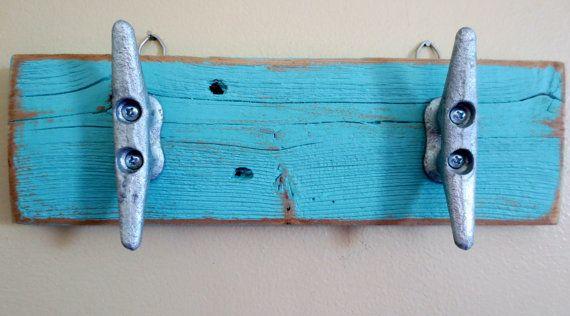 Barca turchese tacchetta ganci decorazione di StarfishEnterprises