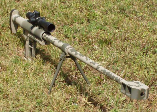 Anzio Ironworks 20mm Vulcan anti-tank magazine fed semi-automatic rifle.