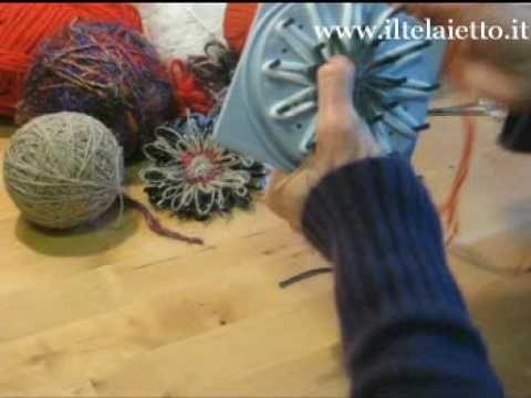 Videocorso Flower loom - Il Telaietto, vendita online di telai e telaietti per lavorare lana e altri filati - Il Telaietto