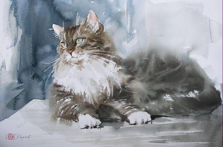 Акварельные кошки. Обсуждение на LiveInternet - Российский Сервис Онлайн-Дневников