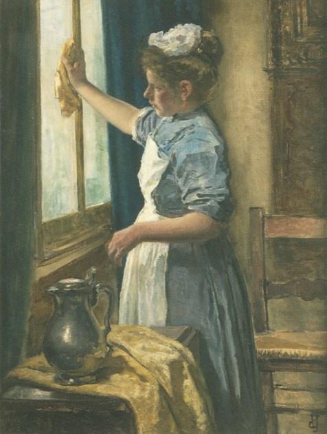 jhr/mr Johan Antonie de Jonge (Rotterdam 1864-1927 Den Haag) Ramen lappen - Kunsthandel Simonis en Buunk, Ede (Nederland).