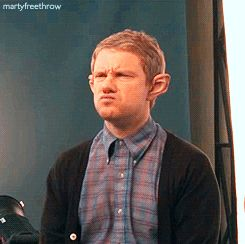 Can we just take a minute to appreciate Martin Freeman? Gif