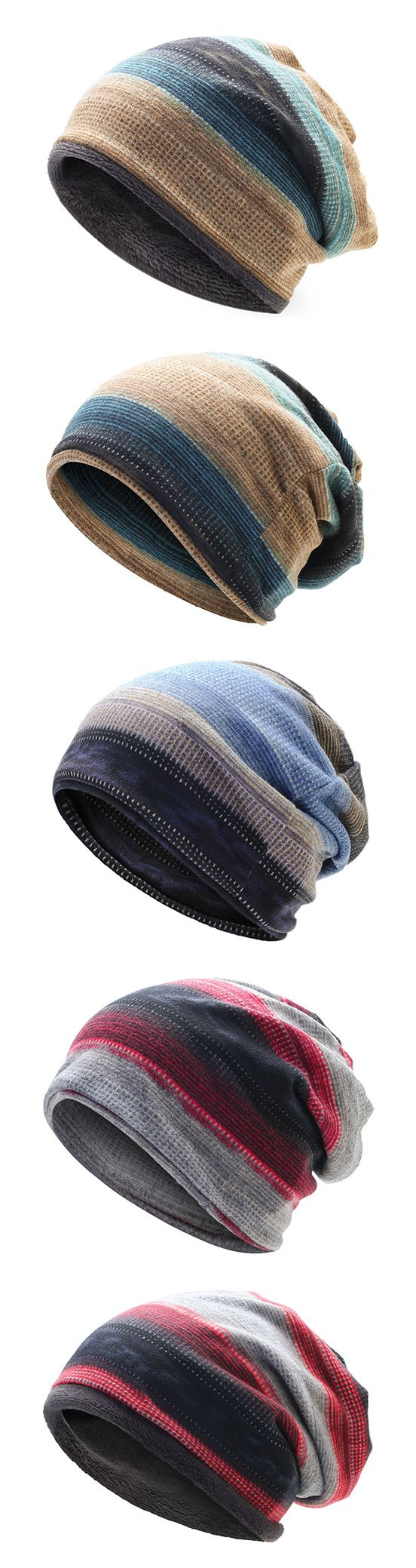 Mens&Women Stripes Beanie Hat #outdoors #fashion #style #art #love