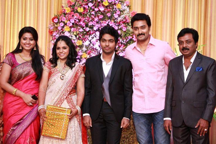 Sneha & Prasanna @ GV Prakash and Saindhavi Wedding Reception