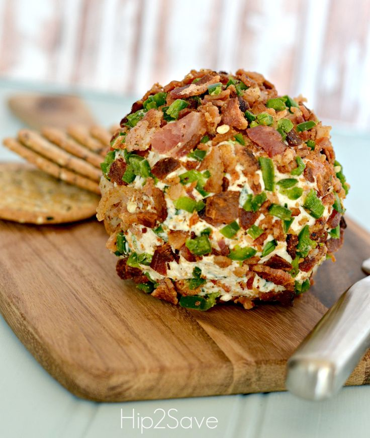 Bacon Cheddar Cheese Ball Recipe for cousin rendezvous!