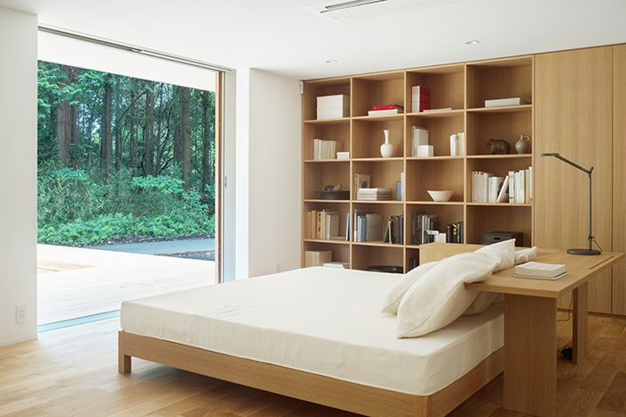 Muji House Bed In 2020 Muji Home One Room Houses House