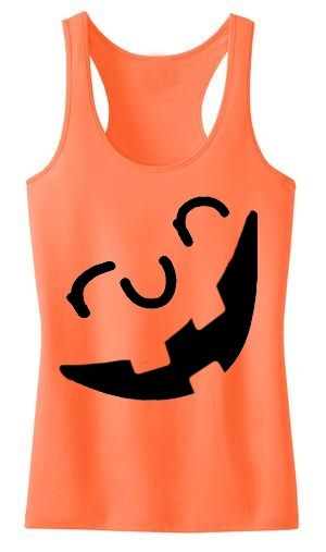 Endure Jewelry: Run-O-Lantern Tank: Run Pumpkin Shirt
