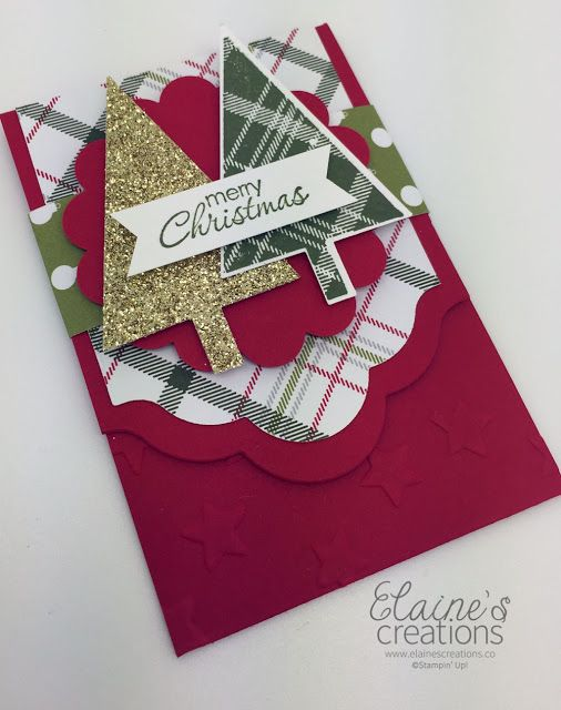 Stampin' Up! Lots of Joy Gift Card Holder Elaine's Creations