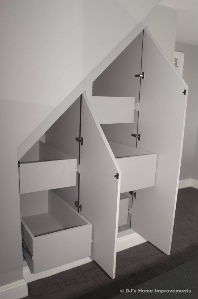 mudroom storage under stairs ideas | Favorite Wasted Space Transformations: Stairs | Ask A Remodeler LI