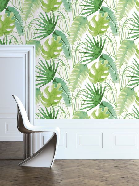 Tapet ELLE Decoration 10m x 0,52 m Grön - Blå, Gröna & Lila tapeter - Rusta