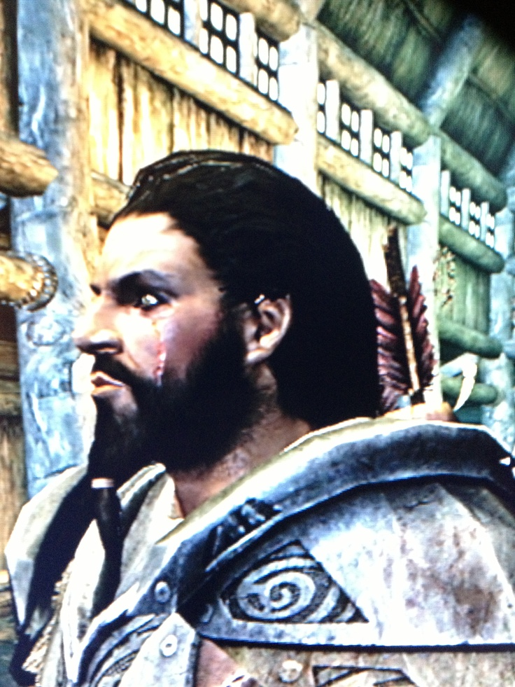 Khal Rhrokahn, my Redguard destruction warrior! (Skyrim Xbox 360)