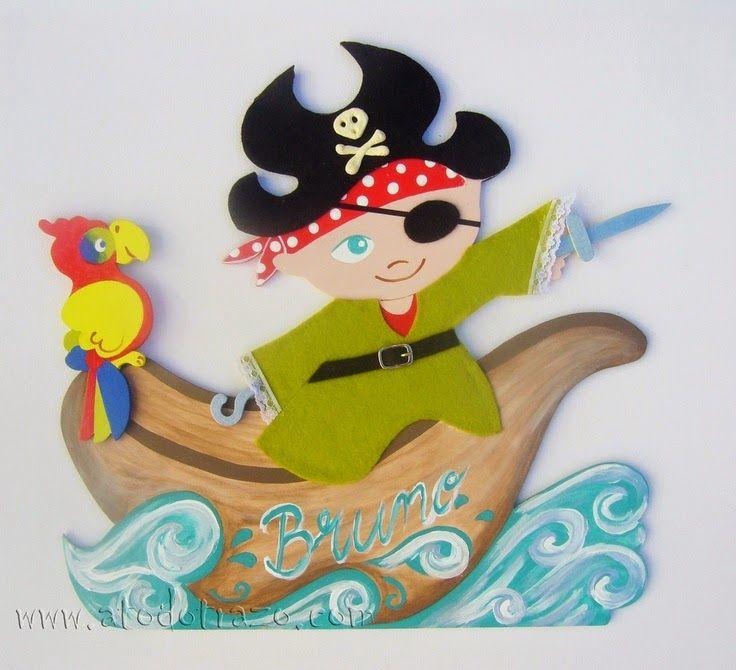 Pintura Decorativa: Bruno, un pirata con parche en el ojo