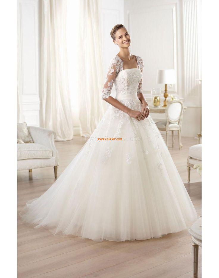 Áčkový střih Délka dvorní S hlubokým výstřihem na zádech Svatební šaty Pronovias
