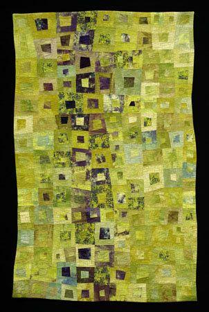 amazing quilt: Art Quilt Insperation, Kurjan Keylimeii 313X480 Gif, Quilts Fabric Fiber, Janet Kurjan, Color, Green, Quilting Art Quilts, Quilting Art Inspiration, Kurjan Quilts