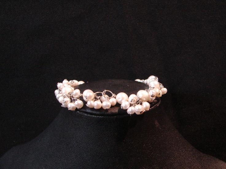 Cultured Fresh Water Pearl bracelet designed by Jennifer Biebert at Biebert Studios