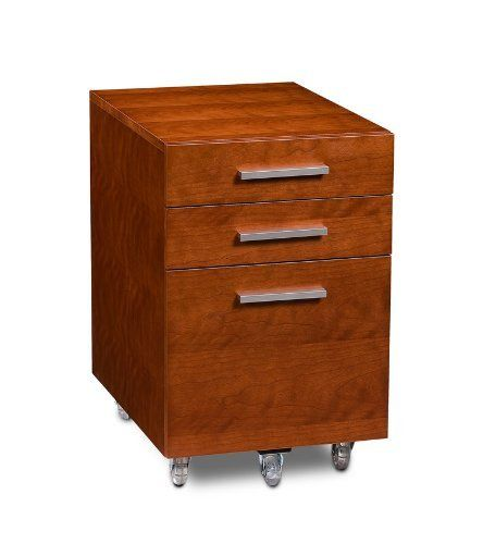 "BDI Sequel Low Mobile Pedestal 6007 - Natural Stained Cherry by BDI. Save 15 Off!. $659.00. Sequel Low Mobile Pedestal features two storage drawers for ample general storage as well as letter/legal file storage. Features locking wheels and is designed to fit neatly under Sequel Desk or Compact Desk. Dimensions: 24""H x 15""W x 21""D"