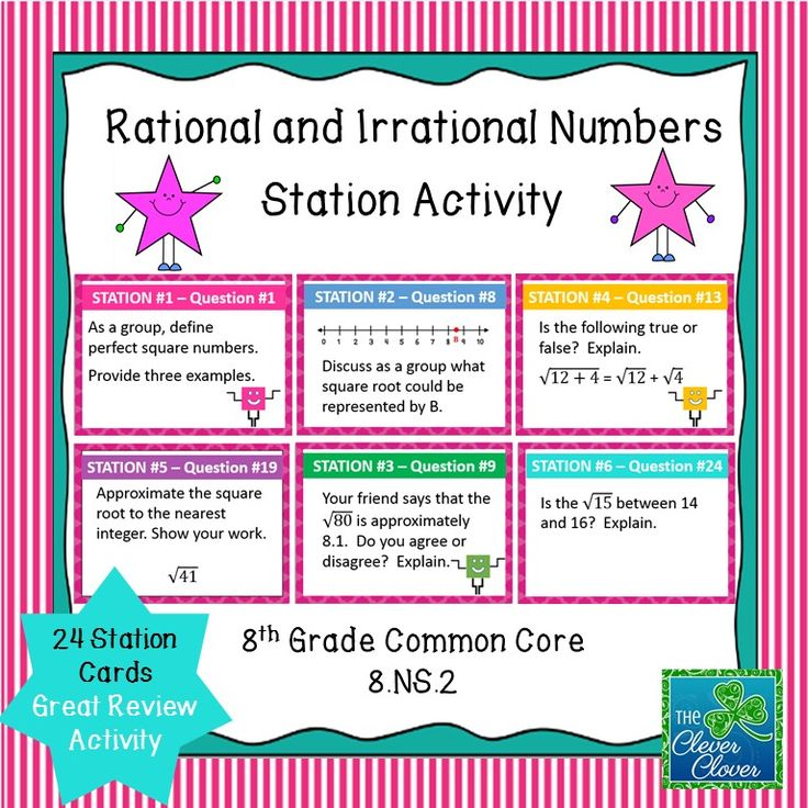 The 9 best real number system images on pinterest irrational estimating square roots task cards fandeluxe Image collections
