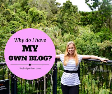 Find out why I created My Own Blog, you could start your own blog too, find out how...http://www.lisakellyonline.com/my-own-blog/