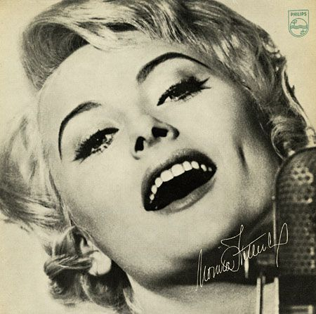 "Jazz i Sverige 1960 - sällsynta rekord skivomslag Monica Zetterlund. Etikett: Philips Ph-1 Privat utfärdat 7 ""EP 1962"