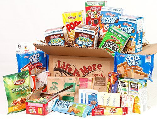 Student Breakfast Care Package / Food Basket - - College Care Package -- Birthday Gift for College Students - http://sleepychef.com/student-breakfast-care-package-food-basket-college-care-package-birthday-gift-for-college-students/