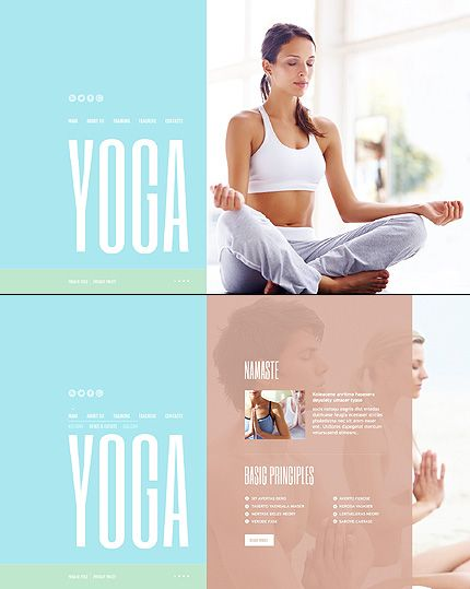 JavaScript Based #template // Regular price: $67 // Unique price: $4100 // Sources available: .HTML,  .PSD #Sport #JavaScript #Yoga