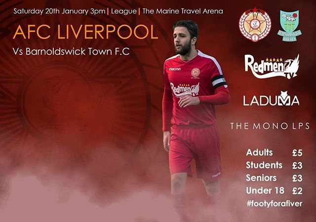 Tomorrow #Footyforafiver  AFC Liverpool vs Barnoldswick Town 3pm kick off  Up the #Non League Reds  #Liverpool